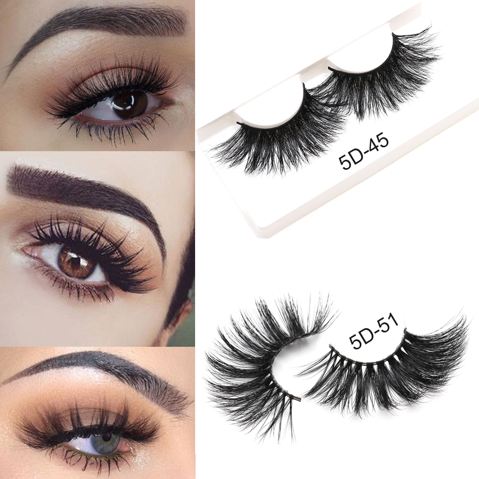 Mink Lashes 5D Mink Eyelashes 100 Cruelty Free Lashes Handmade Reusable Natural Eyelashes Popular False Lashes