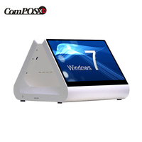 New 12 inch pos system capacitive touch screen monitor restaurant all in one windows POS8812pro