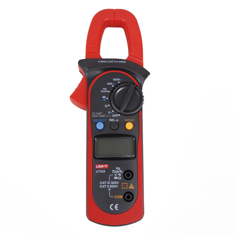 UNI-T UT203 3999 Count 40A to 400A AC/DC Current Digital Clamp Meter with Voltage Resistance Frequency Test mas tech pro mini mastech ms3302 ac current transducer 0 1a 400a clamp meter test hot sales