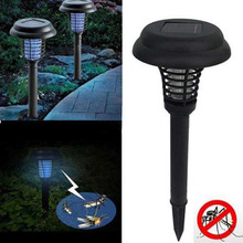LED Solar Powered Mosquito Killer Lamp Anti Mosquito Insect Pest Bug Zapper Killer Trapping Lantern Lamp With Spike