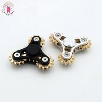 Tri Spinner Gear Teeth Linkage High Quality Metal Fidget Spinner Hand Spinner Finger Spinner Anti Stress