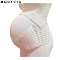 MEETCUTE Maternity Pregnancy Prenatal Support Belly Band Waist Back Support Care Athletic Bandage Girdle