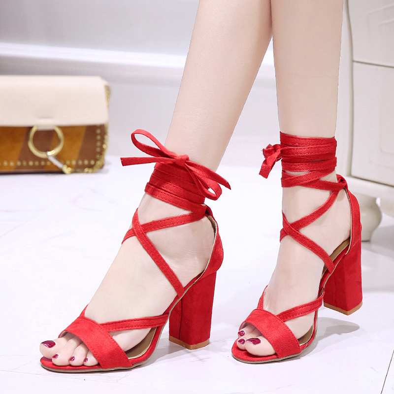 Women Sandals 2019 Summer Shoes sexy High Heels Sandals Women Casual Gladiator Sandals size 35 43 in High Heels from Shoes