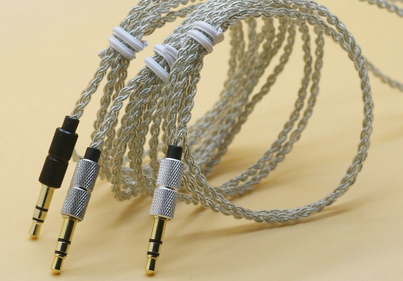 Single crystal copper UE Silver wire DIY headphone cable