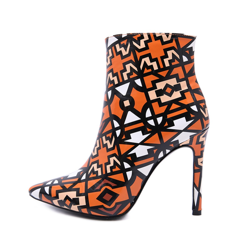 Qualité Bout 35 2018 Multicolore Haute 2 Glissière À Talons Sexy Tissu Chaussures Femmes 1 Bottes De Hauts 42 Latérale Mode Pointu Taille SUMGjLzqVp