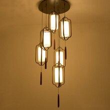Современный Китайский стиль античный ресторан долго гостиная подвесные светильники творческий пользовательские подвесной светильник висит бар ресторан ZA
