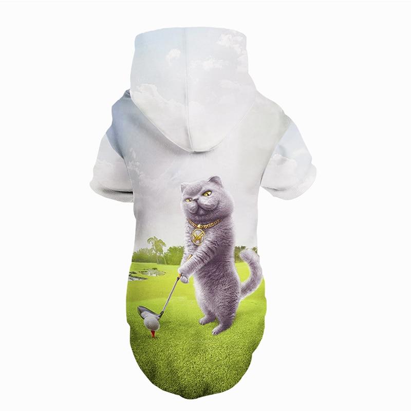 New Design 3D Printed Dog Hoodie Fun All Season Dog Animals Costume Dog Cat Cloth Apparel