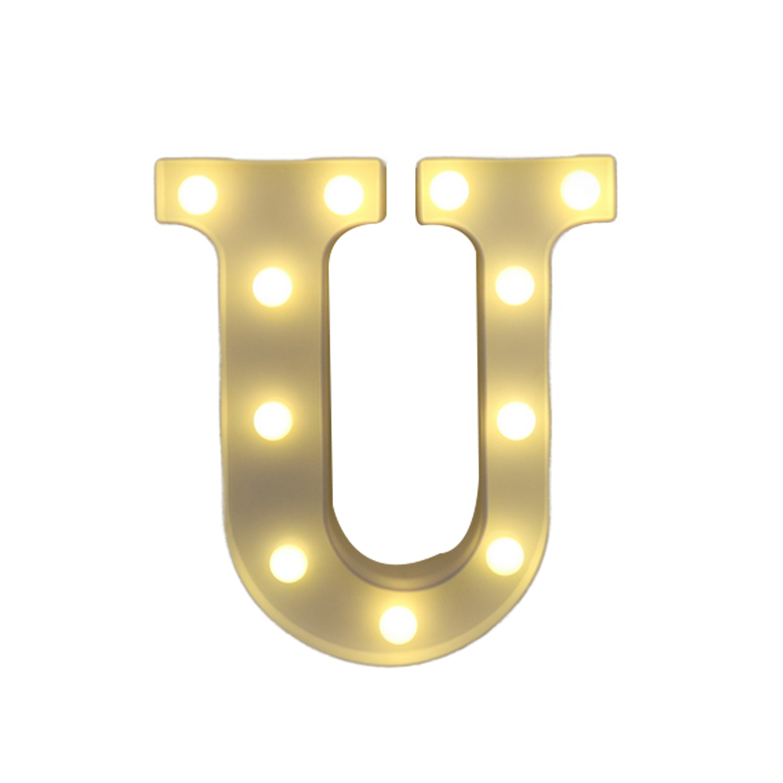 U-Z Light Up Decoration Symbol Indoor Wall Alphabet Letter LED Light White Decoration We ...
