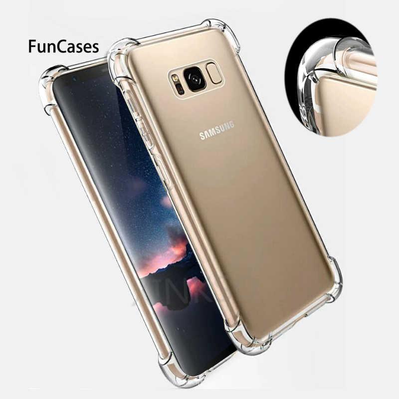 Chống sốc Trong Suốt Silicone Mềm Ốp Lưng Armour Case Dành Cho Samsung S10 Lite Pro A6S A9S A750 J4 J6 A8 Plus 2018 J3 j5 J7 S8 S9 lưng