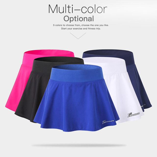 Women's Queshark Professional Sports Tennis, Badminton, Breathable Quick Drying Fitness Short Skirt