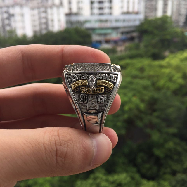 2015 2016 Denver Broncos 50 Championship Ring Replica Super Bowl Football Rings Size 8-14 USA Men Fashion Fan Gift HC50