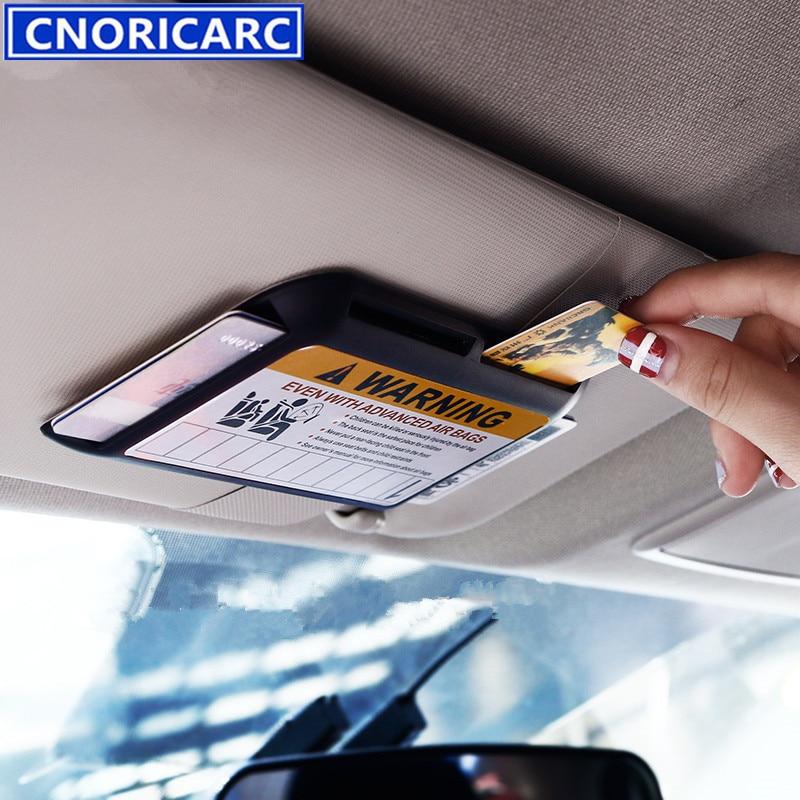 CNORICARC Car Dedicated Sun Visors Decorative Sticker Business Card ...