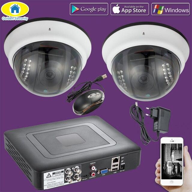 Golden Security 2000TVL 4CH CCTV 1080N system kamer DVR, nadzór bezpieczeństwa wodoodporna kamera ahd 720 P, noktowizor