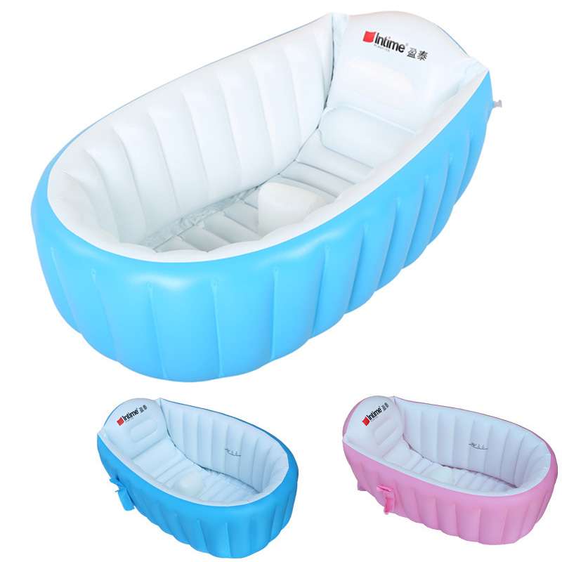 Inflatable Baby Swimming Pool Eco-friendly PVC Portable Children Bath Tub Kids Mini-playground Newborn Swimming Pool Bathtub environmentally friendly pvc inflatable shell water floating row of a variety of swimming pearl shell swimming ring