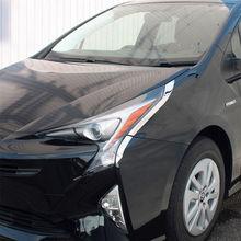 Lâmpada Do Farol de Aço Inoxidável SUS304 XW50 Decore Molding Capa Guarnição Acessórios para Toyota Prius 2015-2017