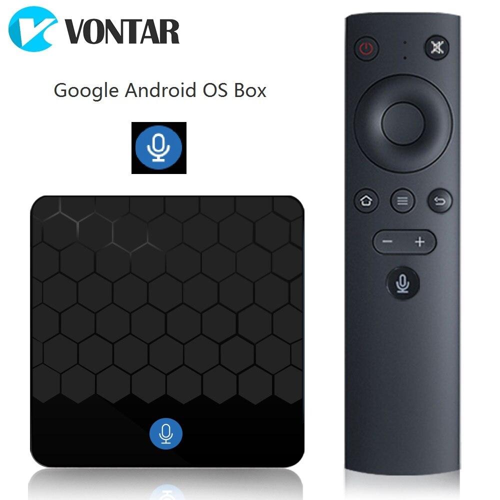 VONTAR X88 мини голос Управление Google Android ТВ коробка 2GB16GB Rockchip RK3328 Поддержка 60fps 4 К Google игрока магазин Youtube