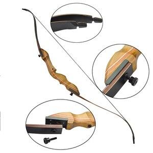 Image 3 - 1 pc 60 cal 40lbs łuk refleksyjny prawa ręka F1 łuk do polowań Takedown odkryty polowanie fotografowania cel praktyce akcesoria