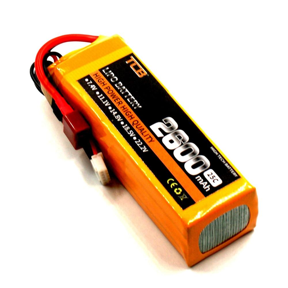 TCB RC ड्रोन लिपो बैटरी 14.8v 2600mAh 25C - रिमोट कंट्रोल के साथ खिलौने