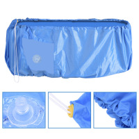 Air Conditioner Cleaning Dust Washing Cover Waterproof Protector Blue Color cubierta aires acondicionados
