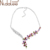 Nidalee 2016 caliente colorido circón collares top cz collares de lujo para las mujeres declaración de moda collar y colgantes de la joyería n1489
