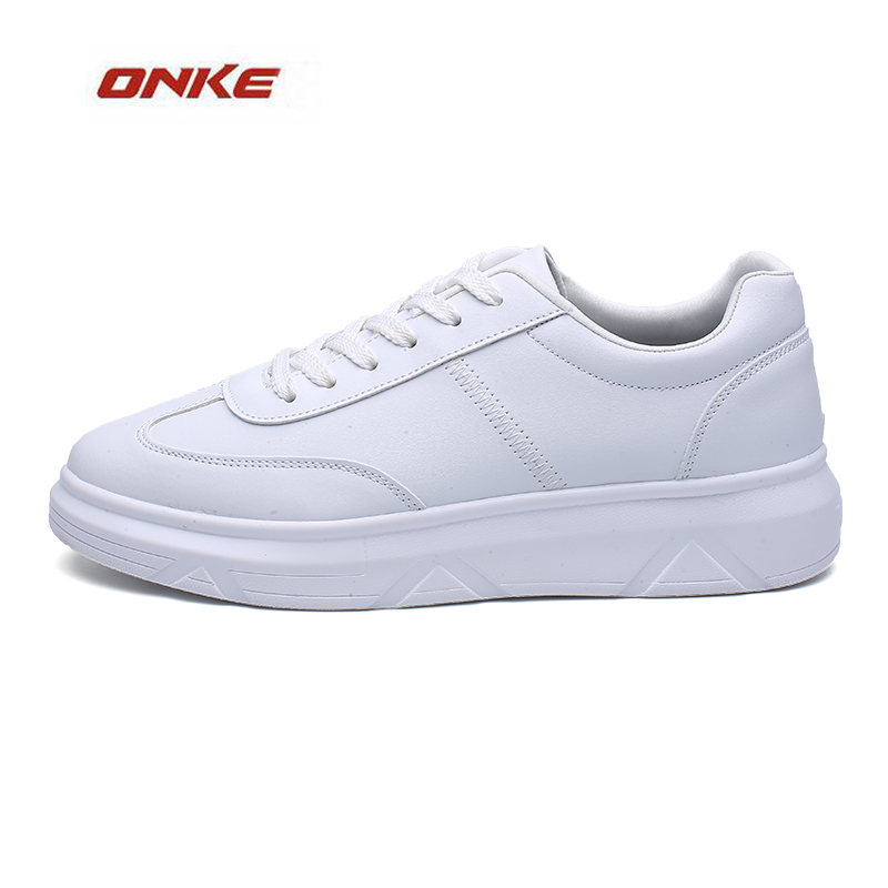 2017 ONKE Brand Man Sports Running Shoes White Color Height Increasing Sneaker Easy Match Popular Trend Shoes Solid Black Color