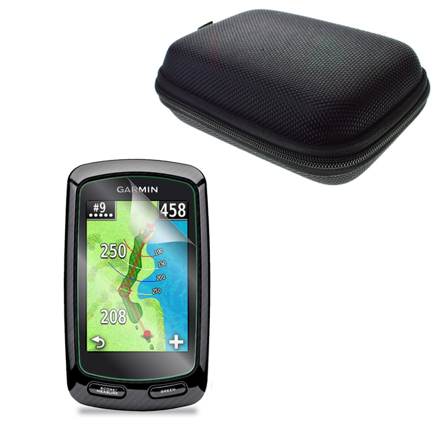 US $11 99 |Anti Shock Portable Protect Case Bag + Clear LCD PET Film Anti  Scratch Screen Protector for Handheld Garmin Approach G6 Golf GPS-in Screen