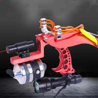 2019 high quality laser slingshot red hunting bow slingshot fishing bow outdoor strong slingshot shooting bow