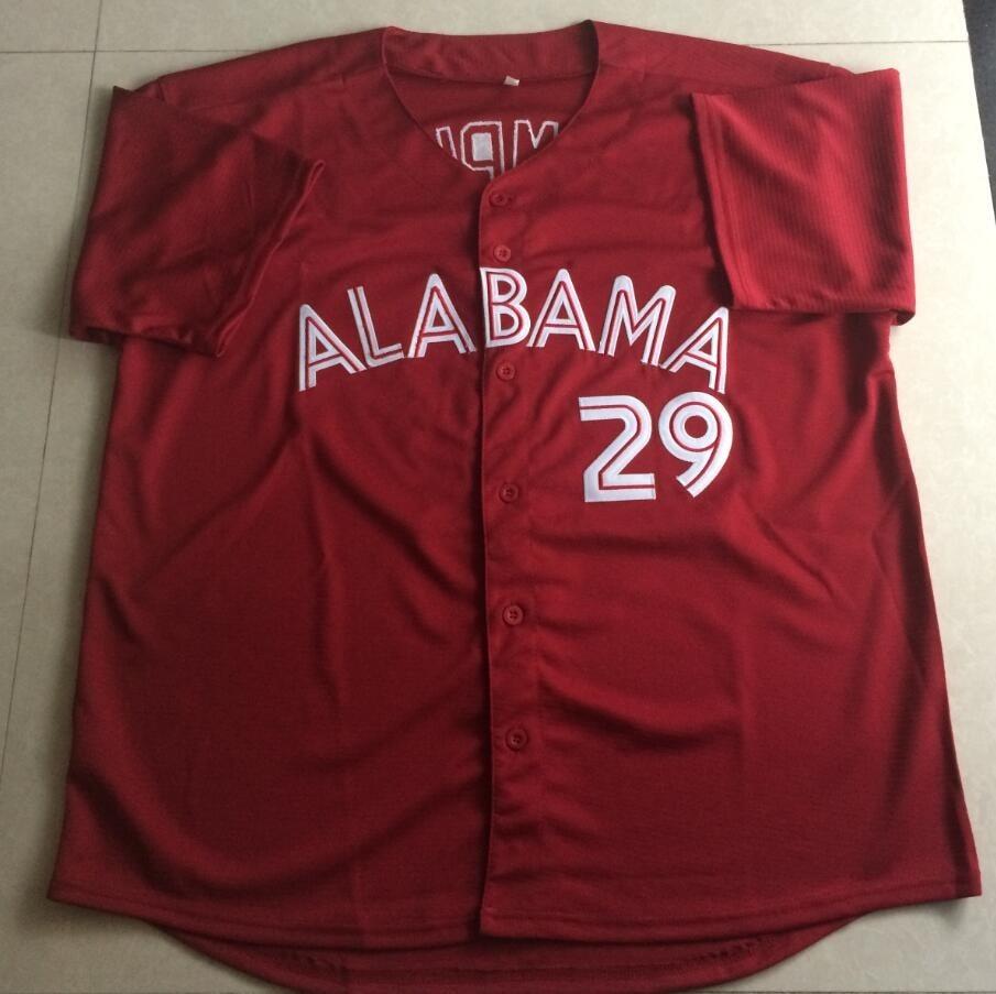 INDCOLTS Mens Alabama Baseball jersey custom any name any number red Baseball Jerseys adults size S-4XL