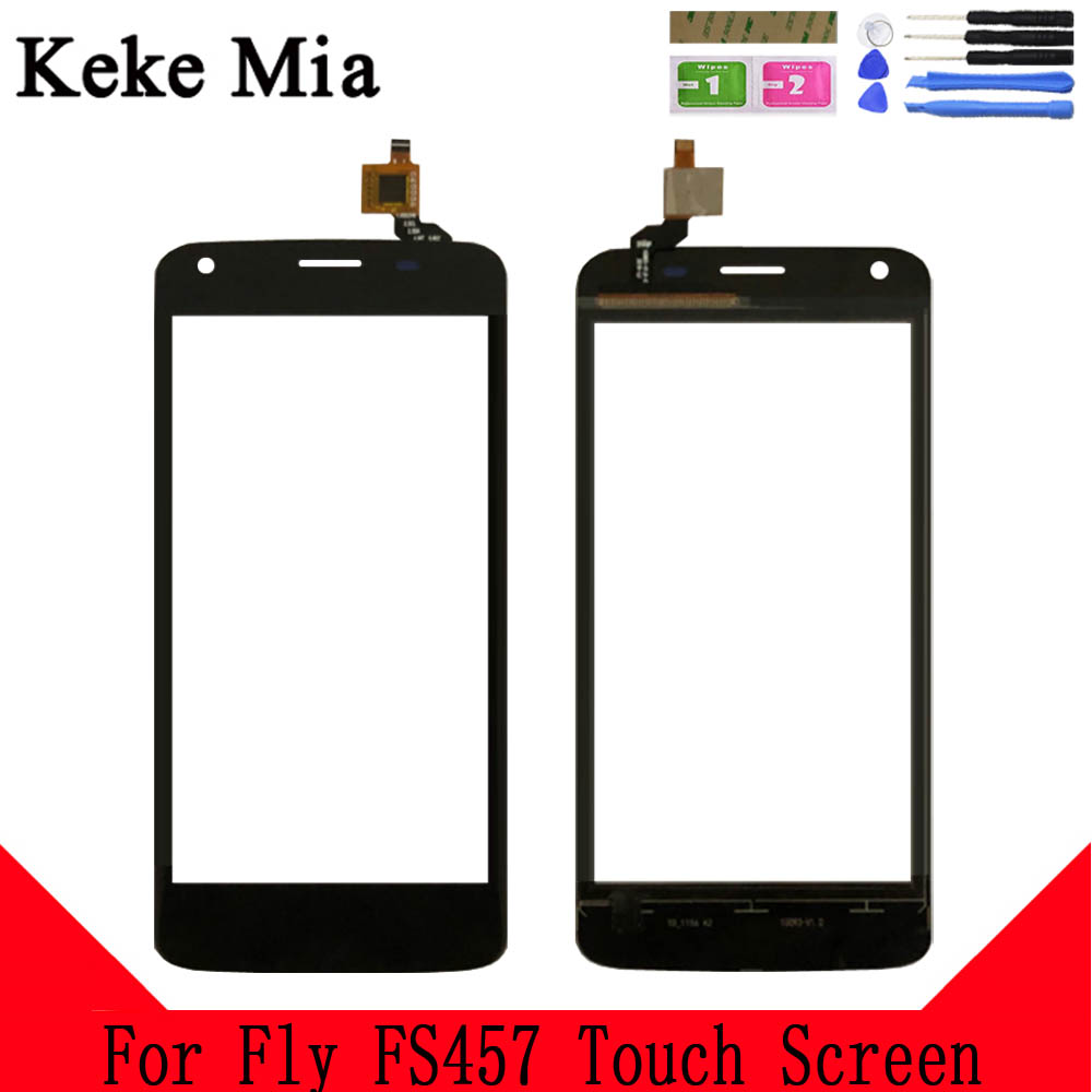 Keke Mia 4.5 Inch For Fly FS457 Nimbus 15 Touch Screen Glass Digitizer 100% Guarantee Original New Glass Panel Touch Screen