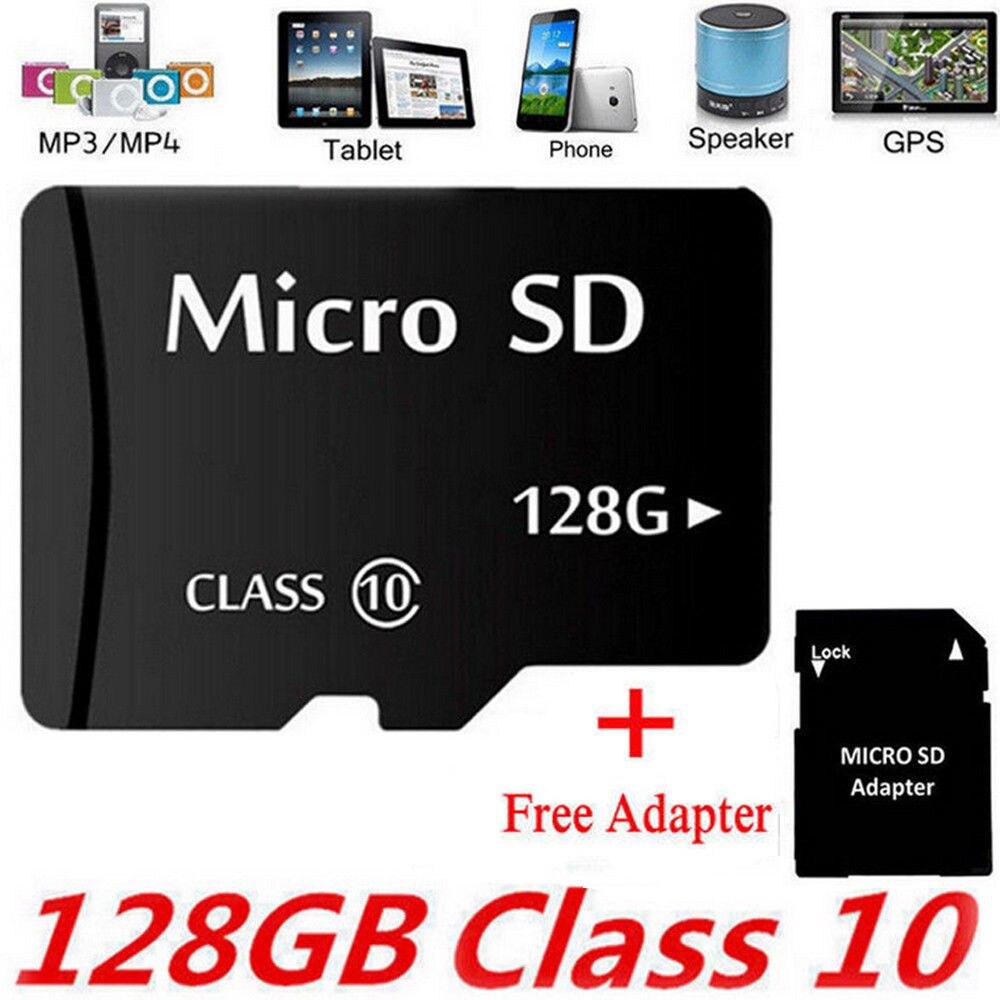 Hell Neue Micro Sd Speicher Karte 2g/4g/8g/16g/32g/ 64g/128g/256g-tf Class 10 Sdxc Sdhc Karte + Free Adapter 100% Garantie