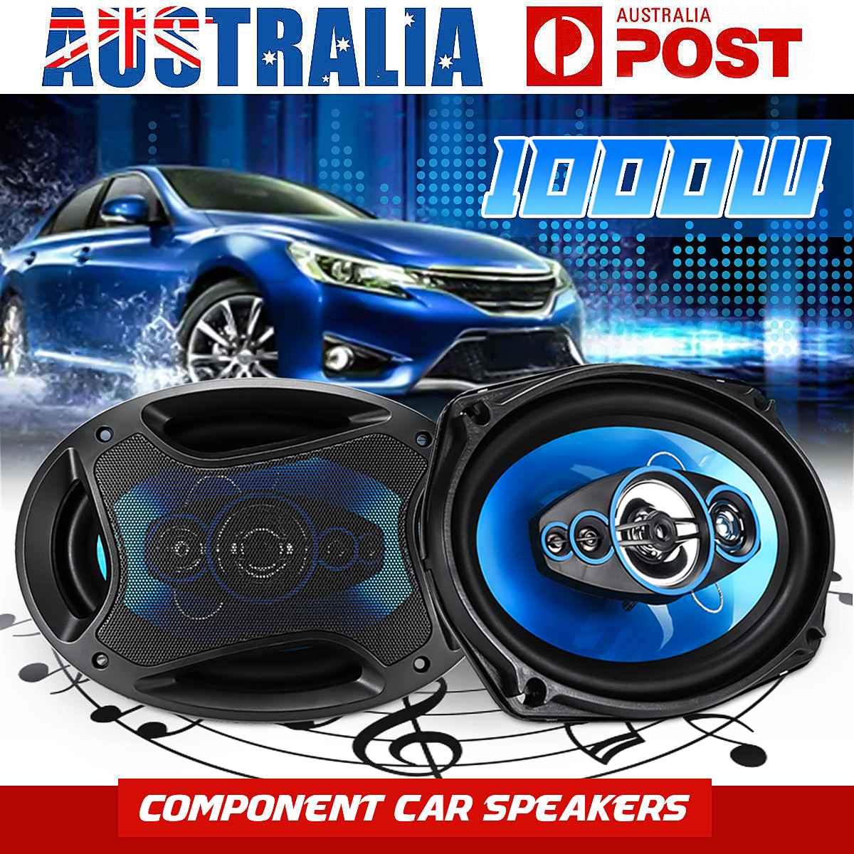 2 pièces 1000 W 6x9 pouces voiture haut-parleurs coaxiaux et Subwoofer universel 2 voies Auto véhicule Audio musique stéréo Tweeters transat haut-parleurs