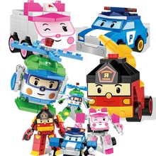 Figure Creator Ideas Police HELLY AMBER ROY Super Car Wings Building Blocks Model Sets Kid Compatible Duplo