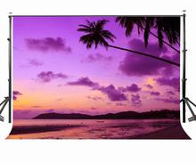 150x220cm Seaside Scenery Backdrop Dusk View Ultraviolet Color Photography Background