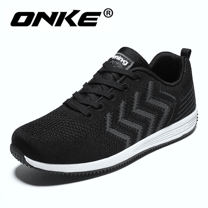 Onke Men Running Shoes Sports Good Quality Outsoles Sneakers for Men Non Slip Soft Walking Shoes  Breathable Size 9.5