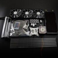Syscooling красочные системы управления водяного охлаждения комплект жесткий tube kit для компьютера Процессор с 21 свет вентилятор