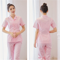 2018 New Women Medical Lab Coats Quality Doctor Nurse Uniform Hospital Nursing Scrub Overalls Short Sleeve Pharmist Workwear
