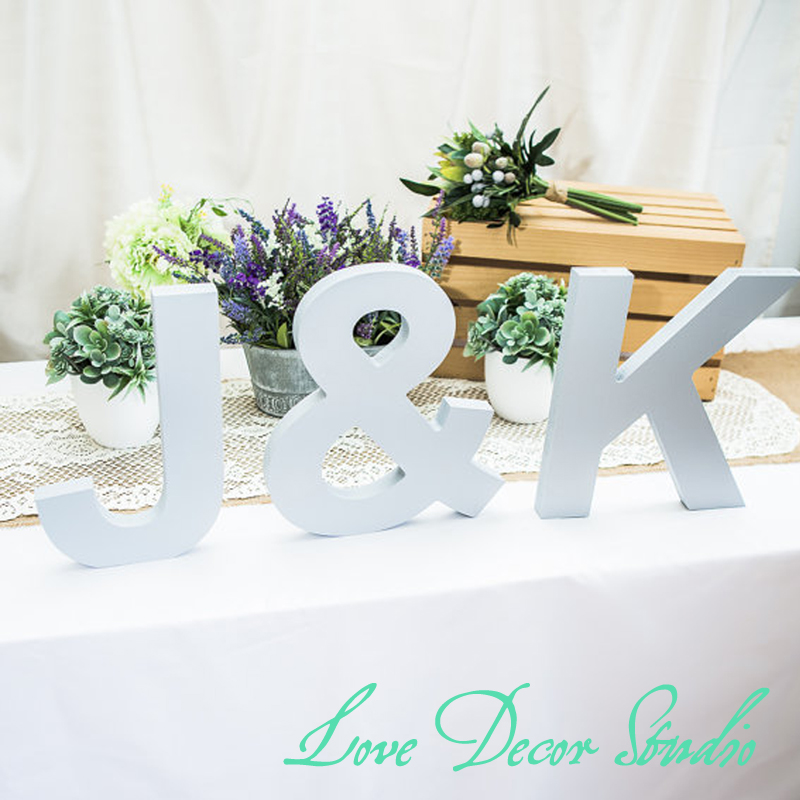 large standing wooden letters freestanding 3 piece initial set personalized table signs wooden