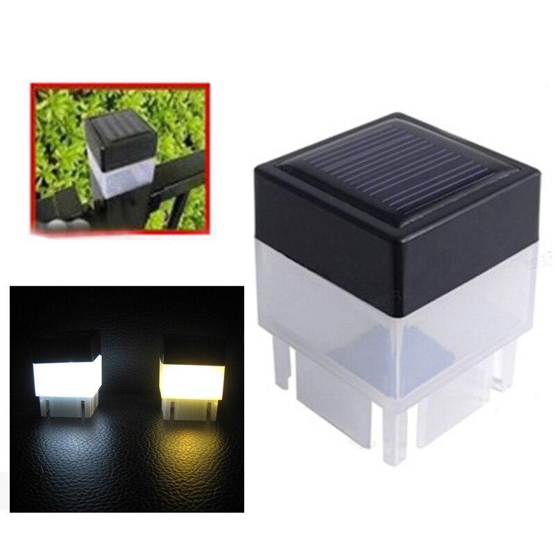 Solar Power Fence Post Pool LED Square Light  for Garden Yard Lamp White Lights