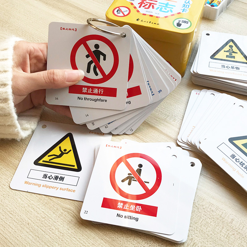 New Hot 120pcs/box  Chinese Characters Cards Kids Baby Safety Signs Enlightenment Learning Cards Pictographic Literacy Cards