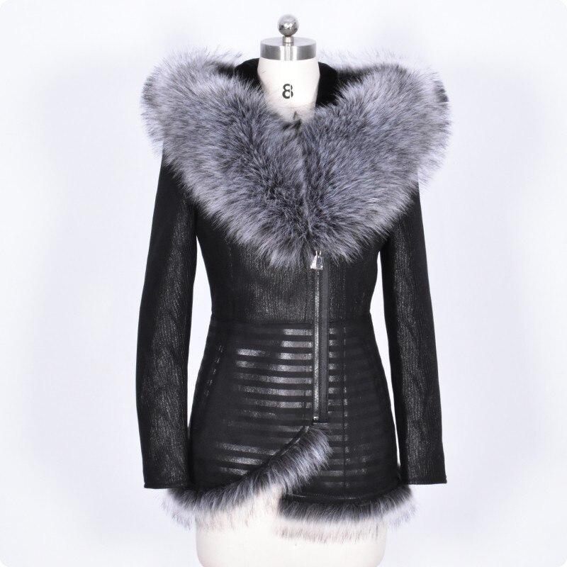 New Arrival Fashion Womens Faux   Leather   Short Jacket Hooded Zipper Long Sleeve Casual Coat For Female Jaqueta De Couro Feminina