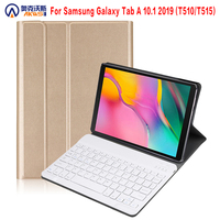 Walkers Bluetooth Keyboard Case for 2019 Samsung Galaxy Tab A T510 T515 Wireless Removable Tablet Cover Case Chargeable