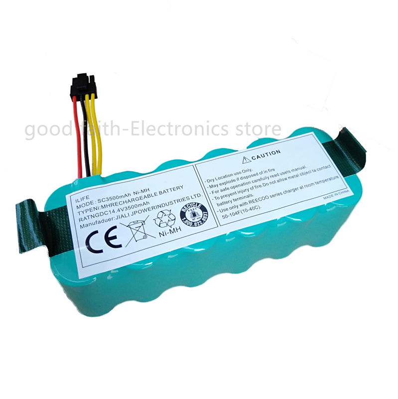 Power Source Humor Battery For Kitfort Kt504 Haier T322 T321 T320 T325/panda X500 X580/ecovacs Mirror Cr120/dibea X500 X580 Robotic Vacuum Meticulous Dyeing Processes