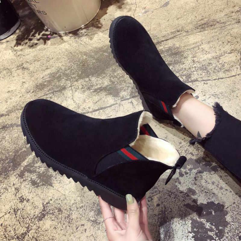 ae6d48edcfb6 LZJ Women s Boots 2018 Fashion Warm Winter Boots Women New Round Toe Feet  Women Casual Shoes