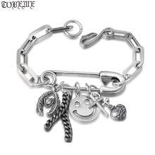 Женский винтажный браслет цепочка из серебра 100% пробы