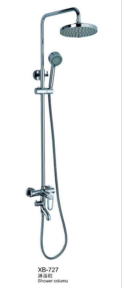 Factory Direct High-grade Copper Round Top Spray Shower Shower Set Three Gear Automatic Sheung Shui Shower Set