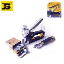 free shipping bosi heavy duty rapid upholstery hand staple nail tacker stapler gun set