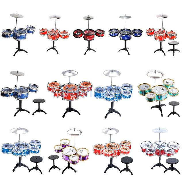 Mini Jazz 3/5 Drums Stool Set Percussion Music Instruments Set Kids Children Baby Early Learning Educational Musical Toy Gift