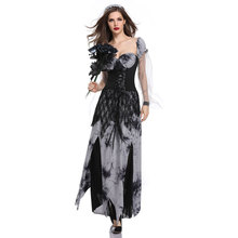 Umorden Womens Gothic Dead Bride Ghost Costume Horror Zombie Corpse Cemetery Brides Cosplay Halloween Day of the Dress
