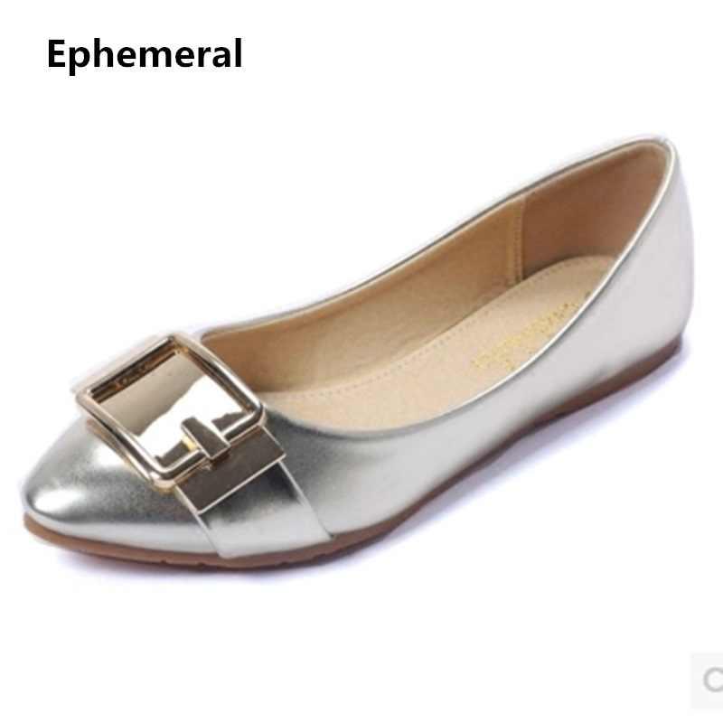 Women Flat Buckle Shoes Sot Sole Anti