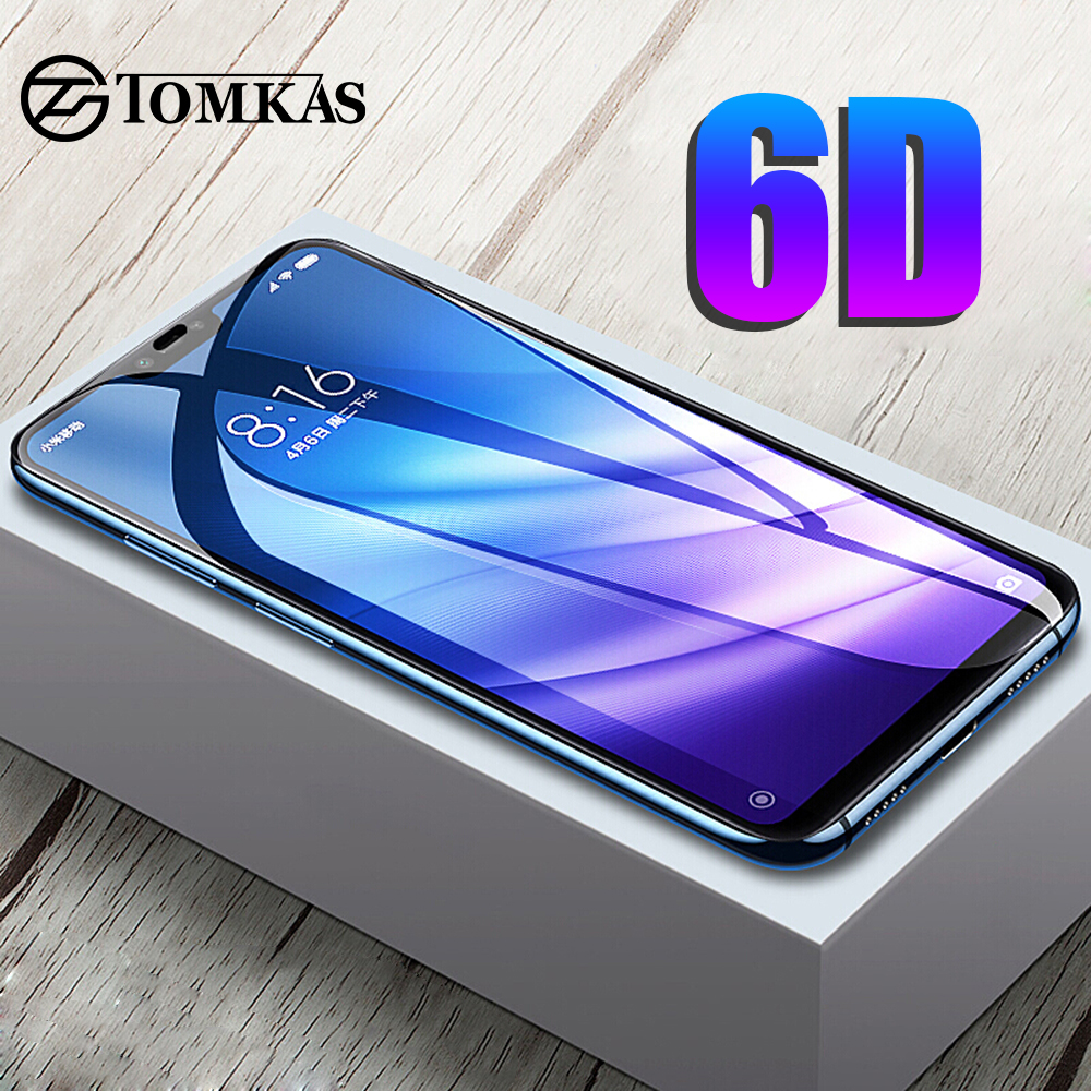 TOMKAS 6D Glass For Xiaomi Redmi Note 7 6 5 Pro Glass Redmi 6 6A 5 Plus For Xiaomi Mi 9 8 Lite CC9E A1 A2 A3 Lite Pocophone F1-in Phone Screen Protectors from Cellphones & Telecommunications
